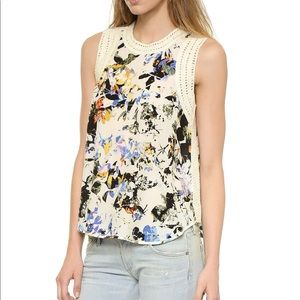Elizabeth & James Silk Vivi Floral Top S